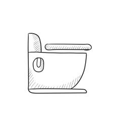 Toilet sketch icon vector image vector image