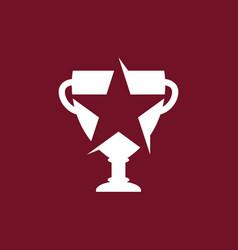 trophy star logo vector image