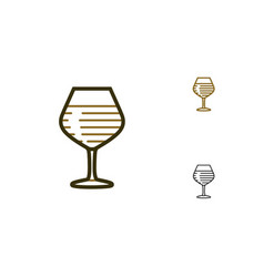 Wine glass icons vector