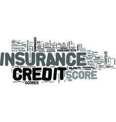 Z insurance credit score text word cloud concept vector
