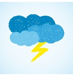 Weather - dark clouds and lightning vector