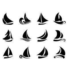 Sailboat symbol vector