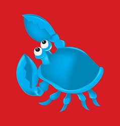 Cartoon crab in format vector