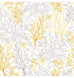 Magical floral seamless pattern background vector