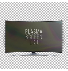Screen lcd plasma  curved tv modern blank vector