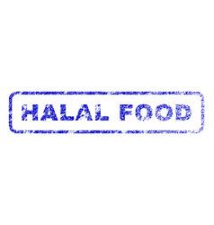 halal food rubber stamp vector image