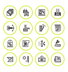 set round icons of modern window vector image