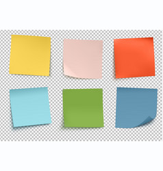Multicolor post it notes vector