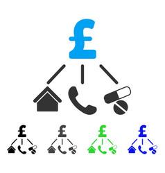 Life pound expenses flat icon vector