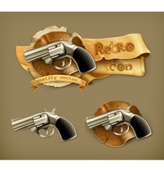 Gun retro icon vector