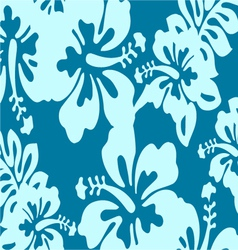 Blue decorative floral pattern vector