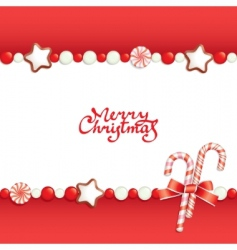 Christmas candy background vector