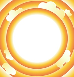 Round frame with clouds vector