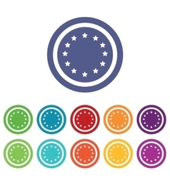 European union signs colored set vector