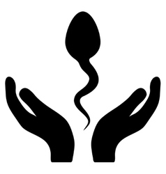 Sperm care icon vector
