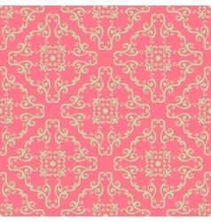 Vintage seamless pattern with floral ornament vector