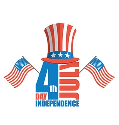Independence day in america uncle sam hat and usa vector