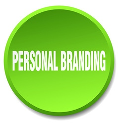 Personal branding green round flat isolated push vector