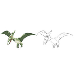 Animal outline for pterosaur vector