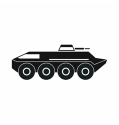 Armored personnel carrier icon simple style vector