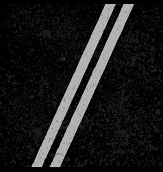 Asphalt road with white lines vector