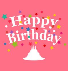 birthday greeting card vector image vector image