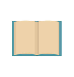 Book novel icon flat style vector