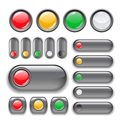 button set vector image
