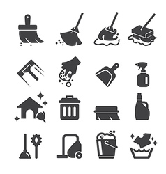 Cleaning icon vector