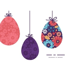 Colorful bouquet flowers hanging easter vector
