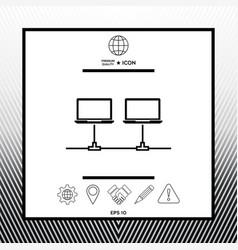 Computer network icon vector