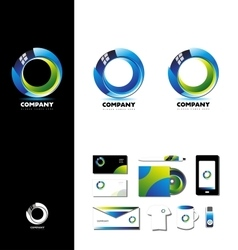 Corporate business 3d circle logo design vector image vector image