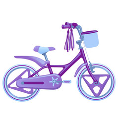 Cute kids bicycle isolated on vector