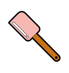 Cute silicone spatula graphic design vector