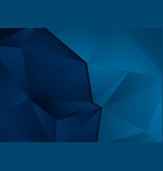 Dark blue abstract modern polygonal tech vector