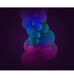 Dark glowing abstract vector image vector image