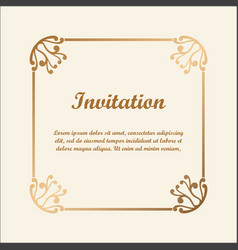 decorative frame with golden gradient vector image vector image