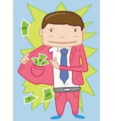 dodgy salesperson vector image vector image