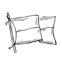 Drawn tensioned flag vector