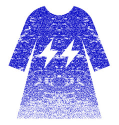 Electric energy girl dress textured icon vector