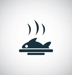 fish dish icon vector image