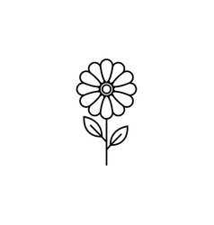Flower line icon plant nature vector