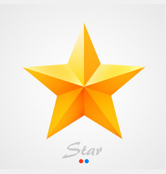 golden star on orange background vector image