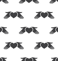 heart hands seamless pattern vector image vector image