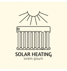 House heating logo template vector