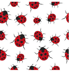 ladybug pattern seamless background vector image vector image