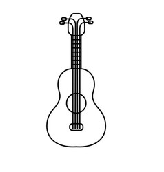 line acoustic guitar instrument to play vector image vector image