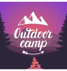 Outdoor camp logo outdoor camp emblem design vector
