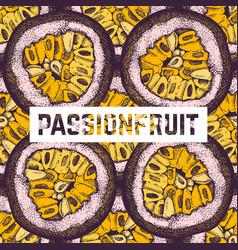 Purple passion fruit background vector
