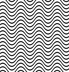 Repeating black white wave pattern vector
